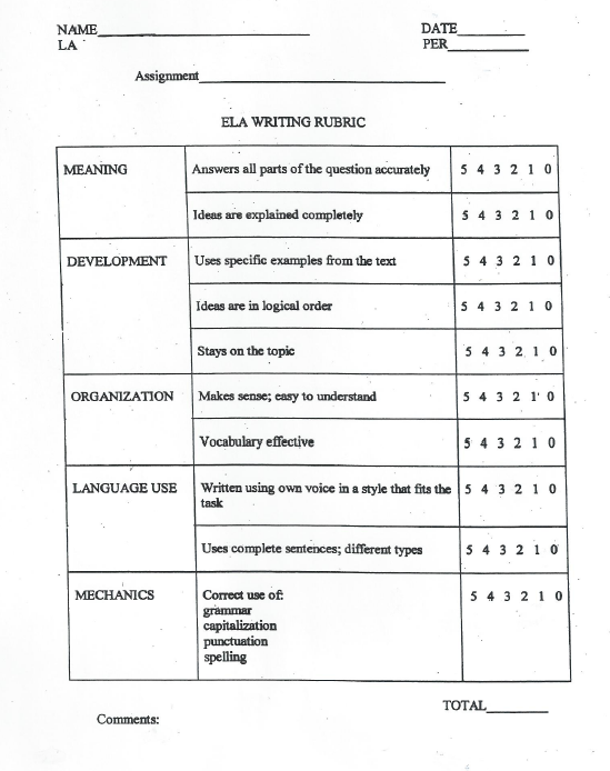 Ela grade 3 essay writing